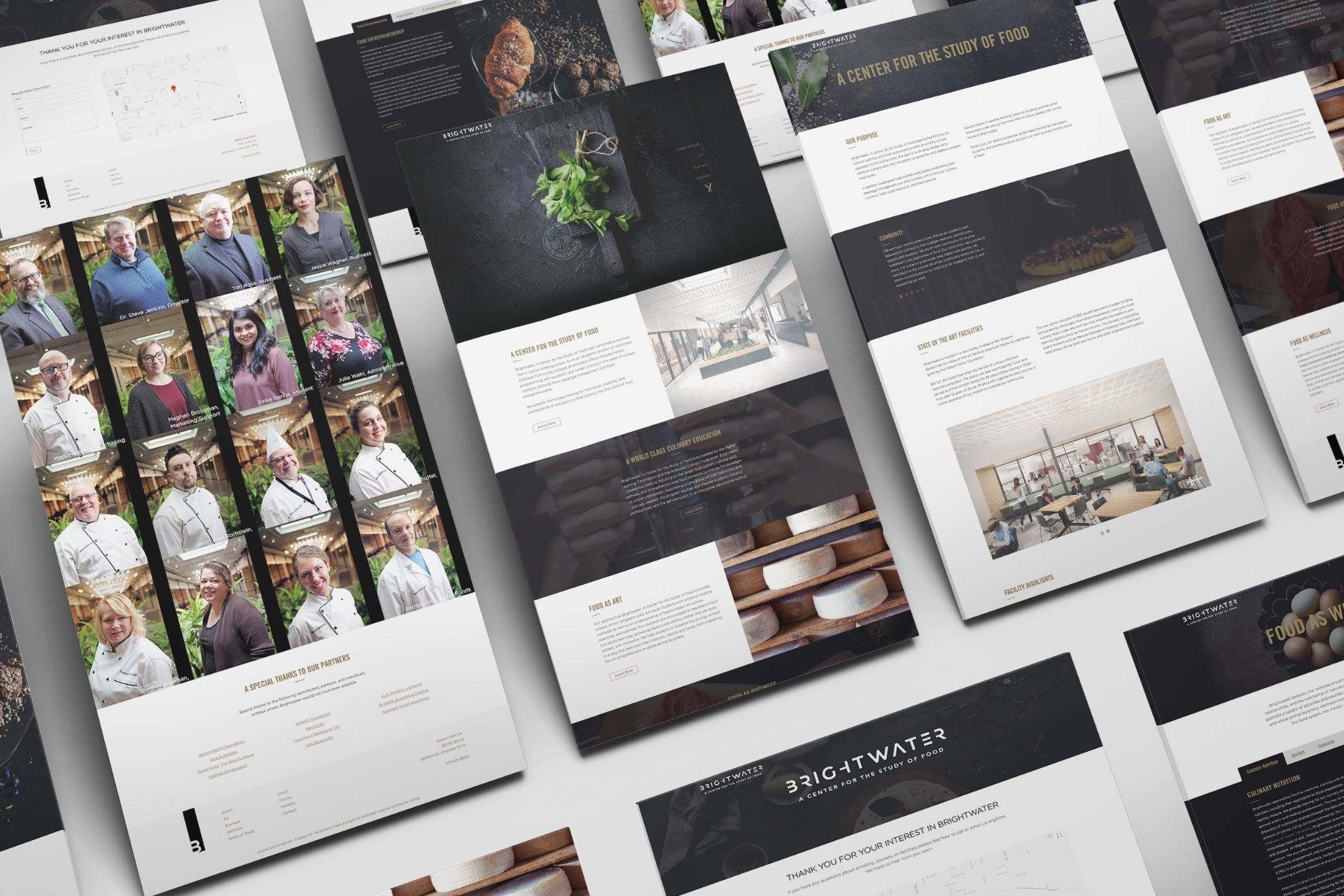 Full Website Design, Creative Direction, And Sleek User Experience For Culinary School Website