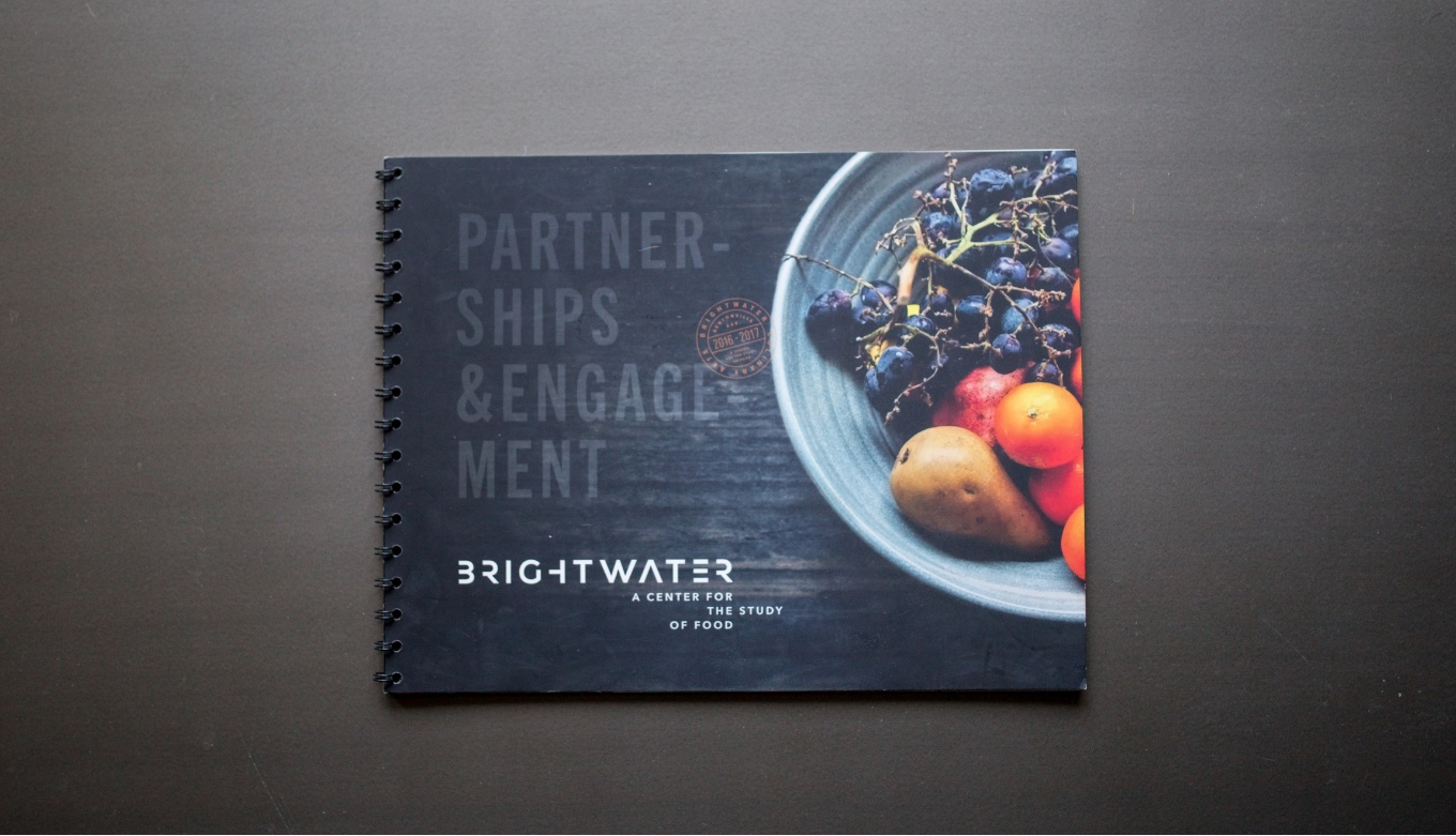 Brightwater Partnership Book Design For Culinary School Support