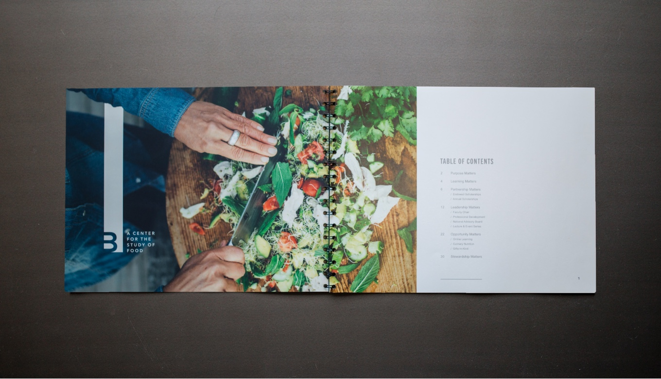 Book Design and Development For Culinary School