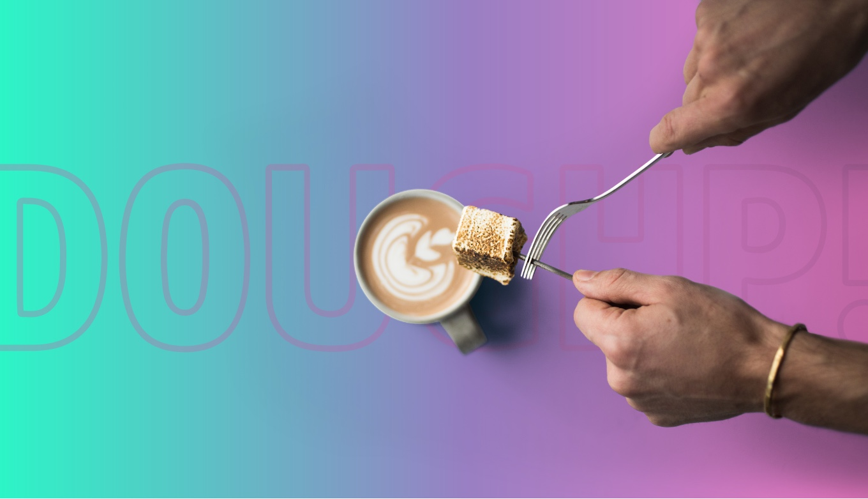 Doughp! Logo Behind Product Photography