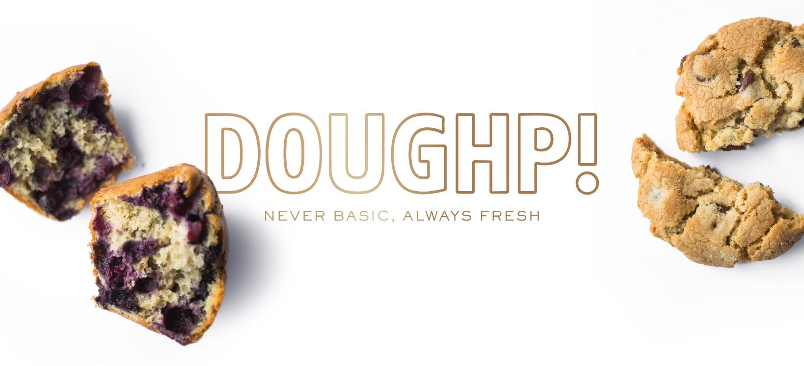 Type-Driven Logo Design And Sleek Branding For Doughp! Bakery