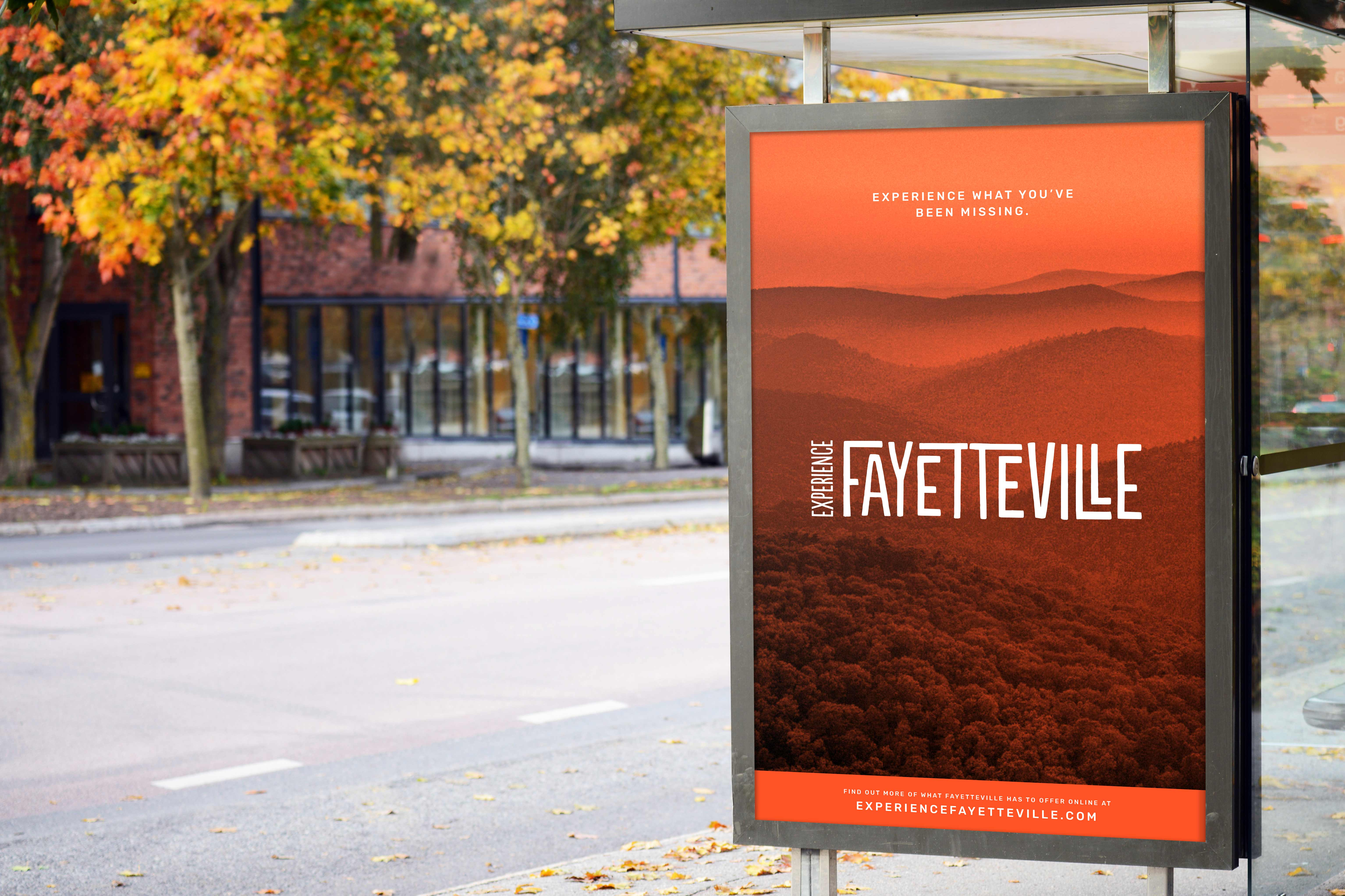 Experience Fayetteville Bus Sign
