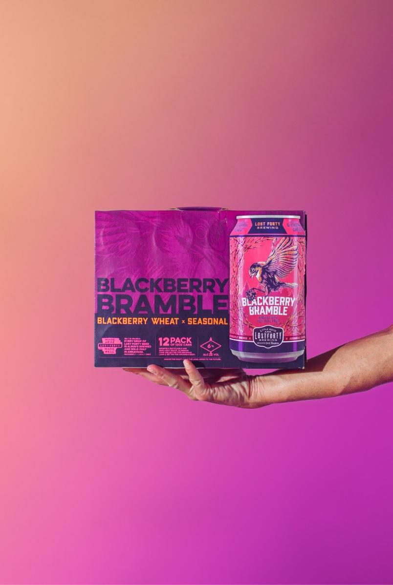 Blackberry Bramble 12 Pack Beer Packaging Design And Custom Illustration By Brand Marketing Agency BLKBOX