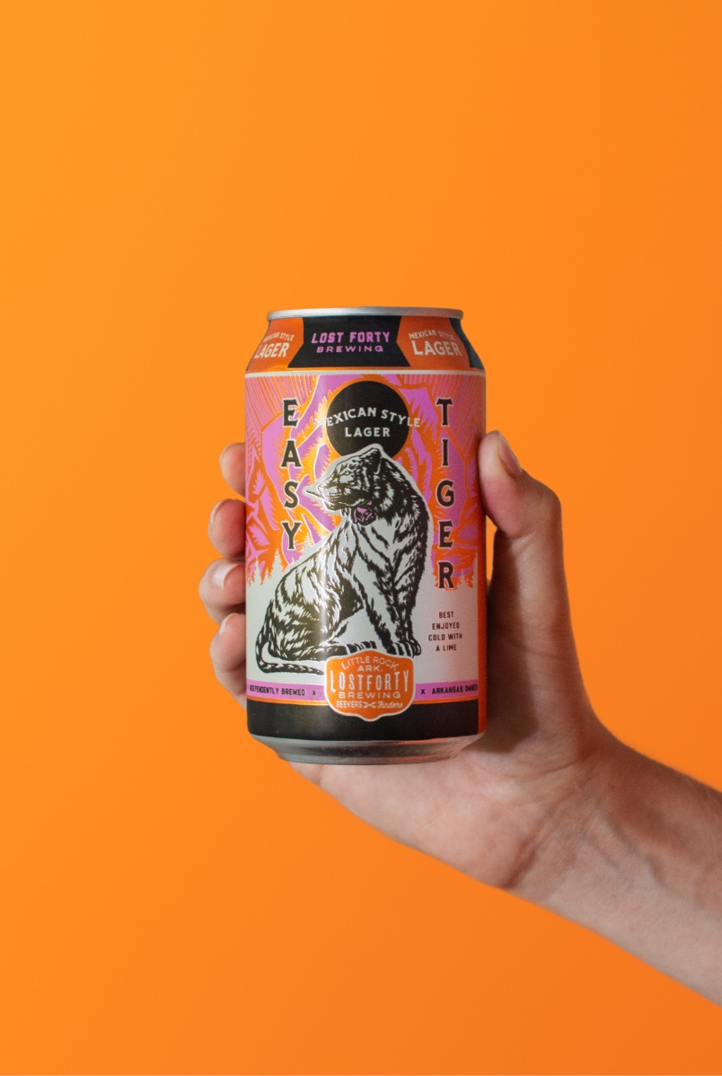 Easy Tiger Beer Can Tiger Illustration And Custom Packaging Design By Creative Agency BLKBOX