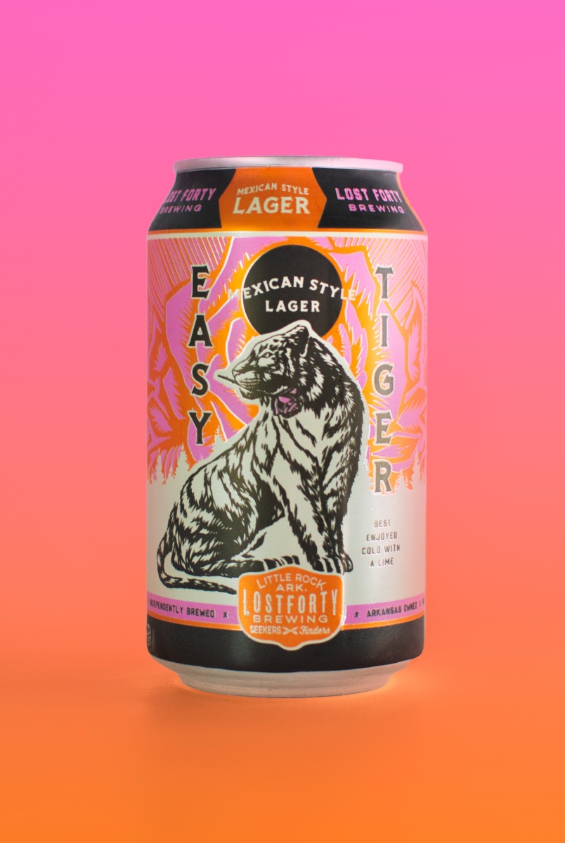 Easy Tiger Neon Illustration And Graphic Design Beer Can Packaging By Brand Agency BLKBOX