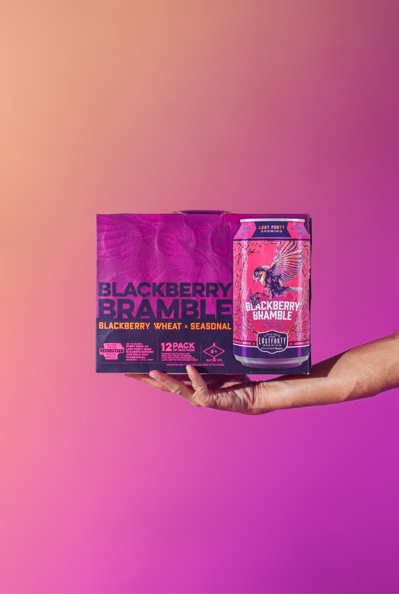 Blackberry Bramble 12 Pack Beer Packaging Design And Custom Illustration By Brand Marketing Agency BLKBOX