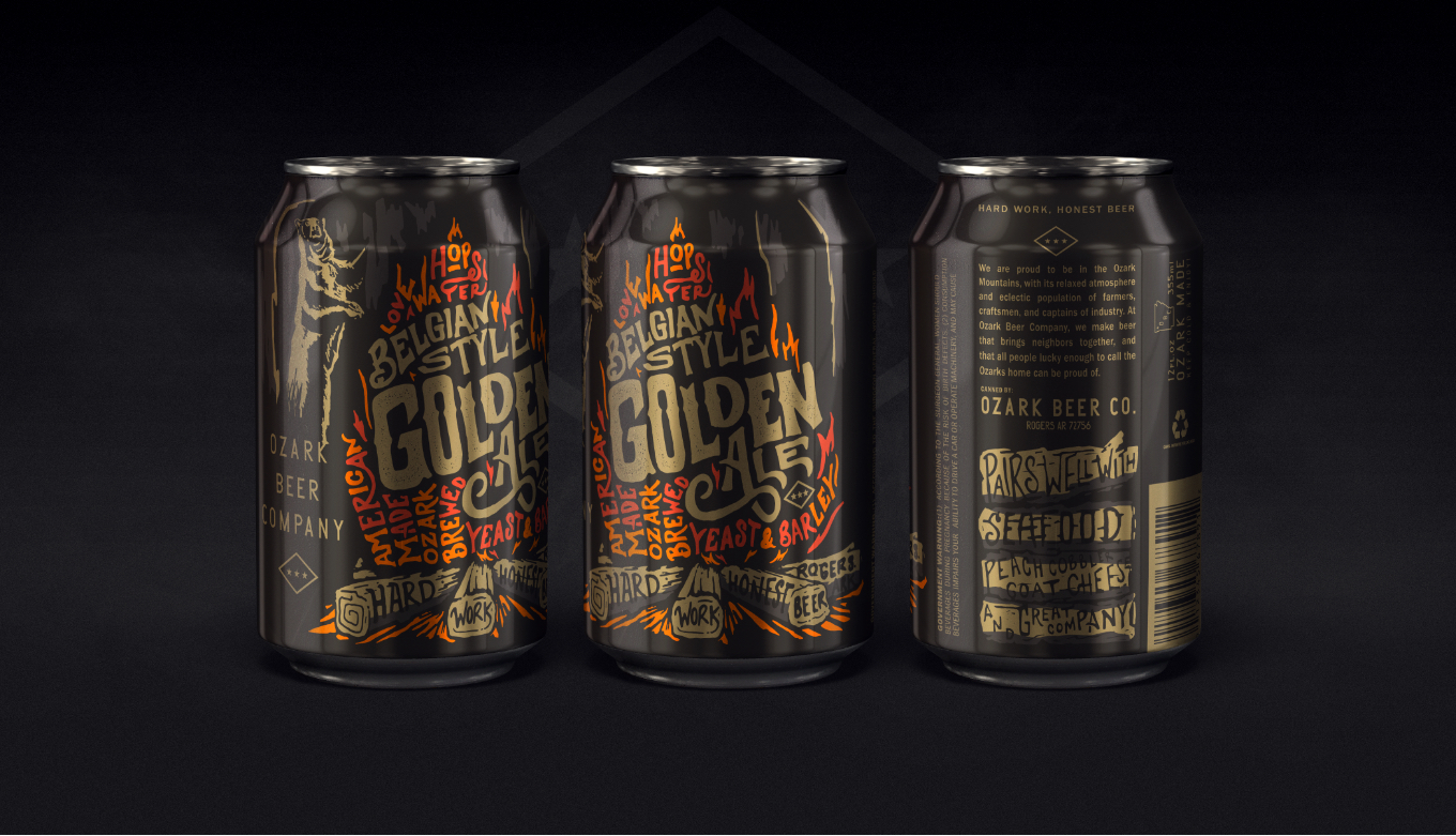 Belgian Ale Custom Illustration And Hand Lettering Full Beer Can Design