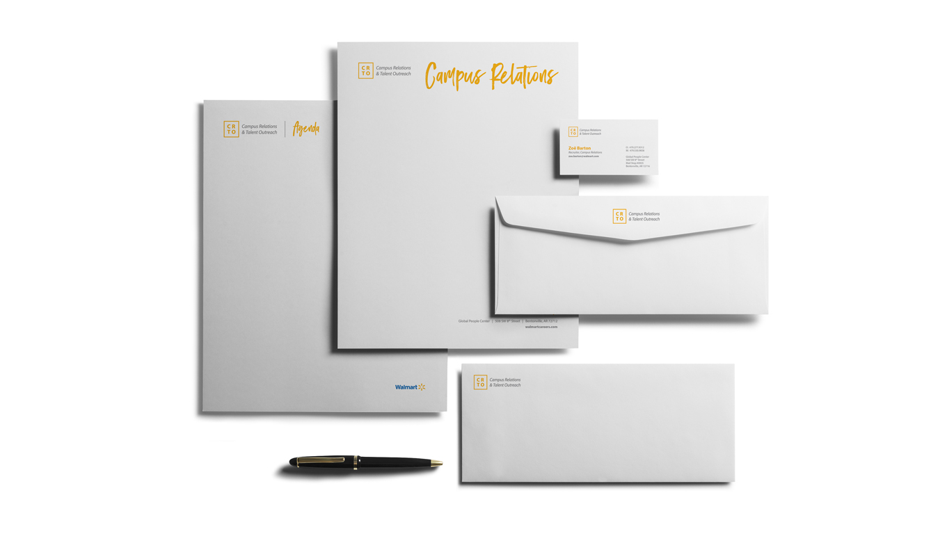 Walmart Campus Relations Branding Identity, Graphic Design, And Art Direction For Printed Collateral And Recruitment Materials