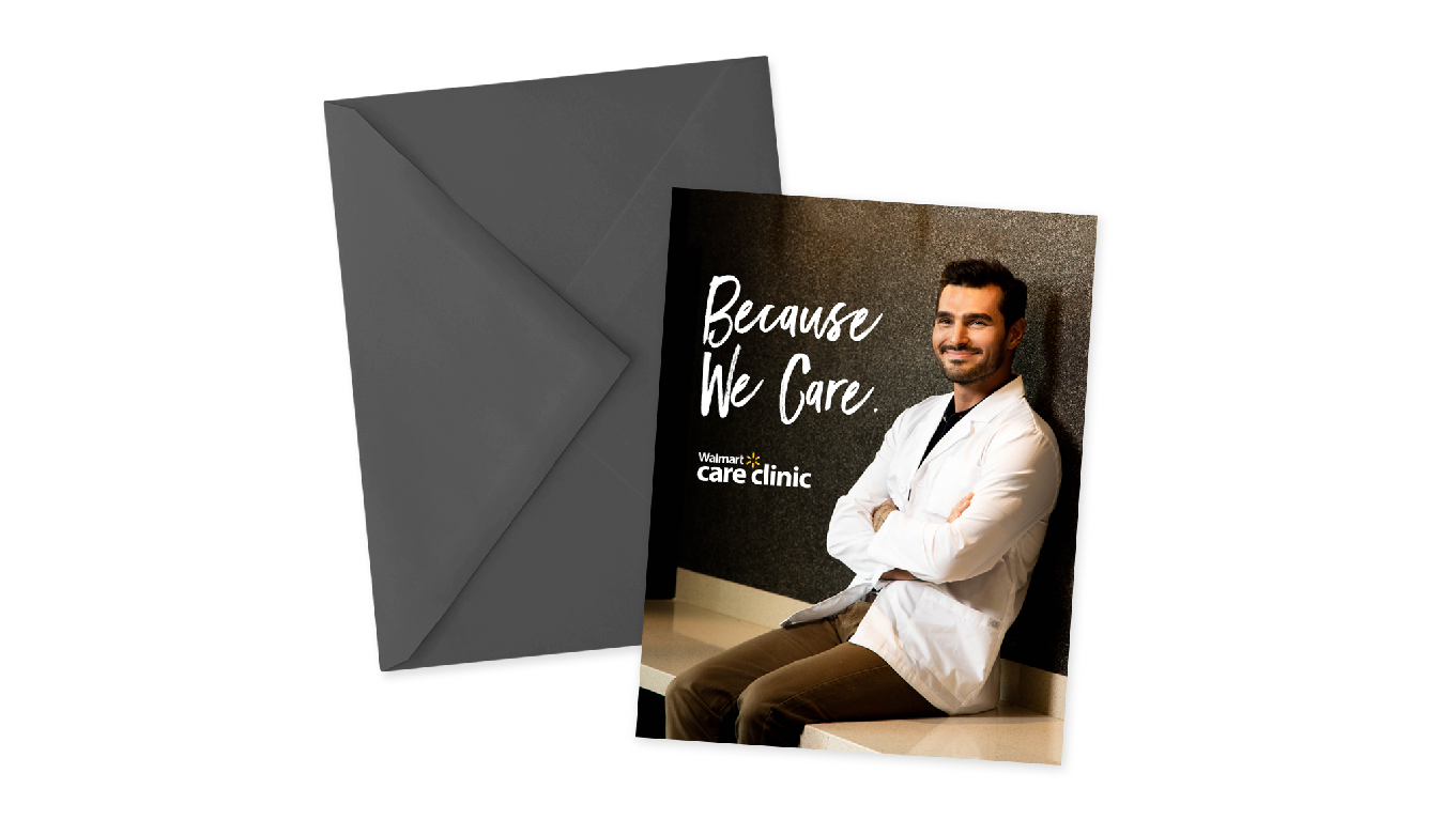 Walmart Care Clinic Branded Recruitment Materials For Health And Wellness Employment Campaigns