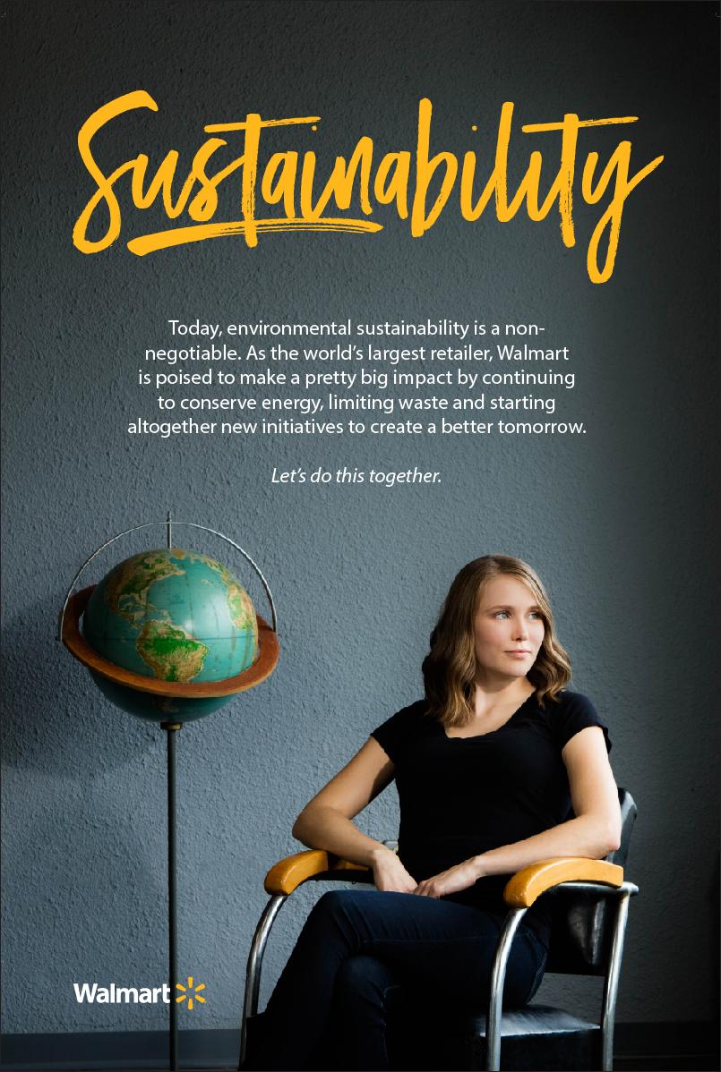 Walmart Recruitment And Employment Marketing Sustainability Banner