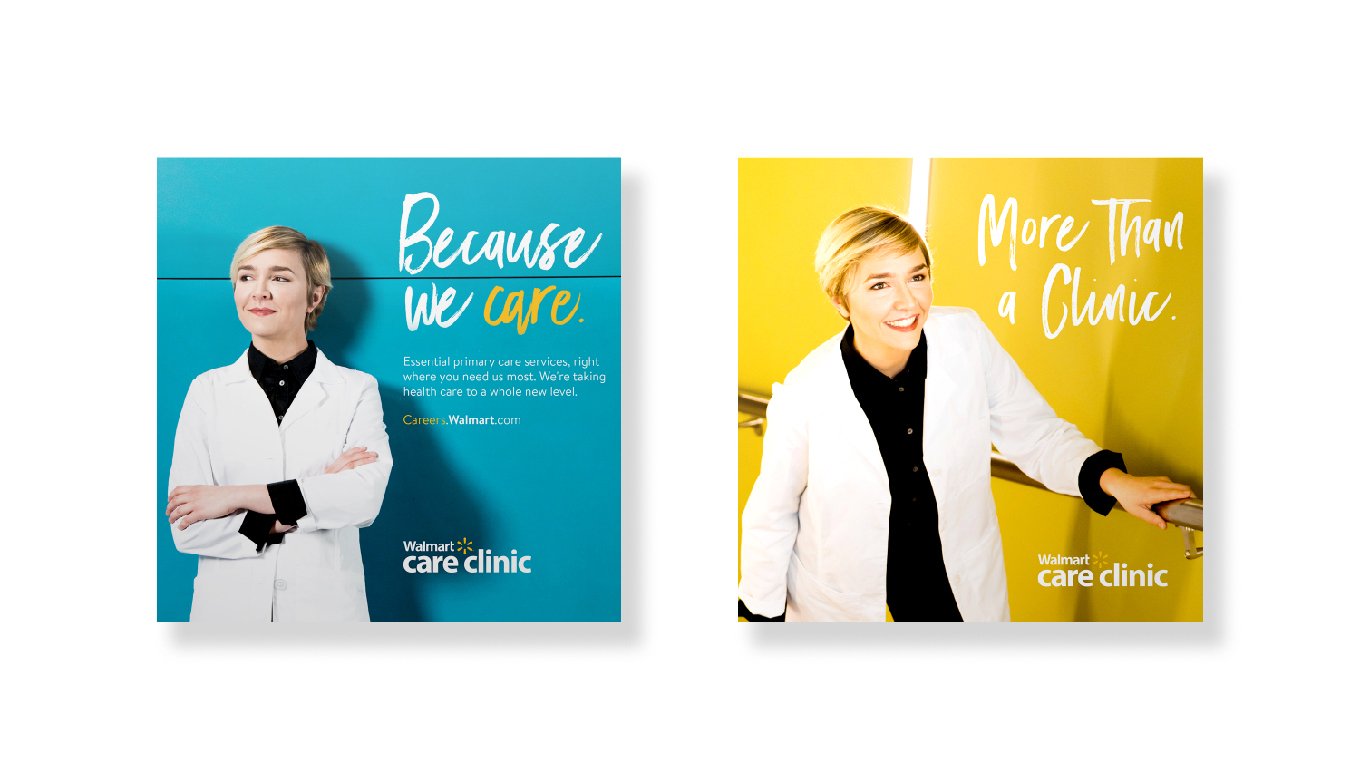 Walmart Care Clinic Photography For Employment Marketing Recruitment Materials Designed By Marketing Agency BLKBOX