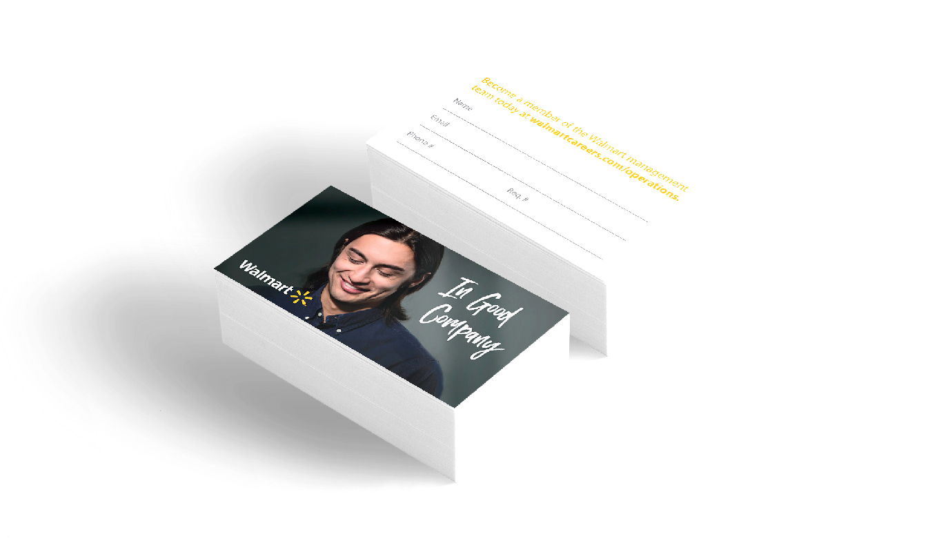 Recruitment Marketing Branding Material For Walmart Campus Relations And Talent Outreach