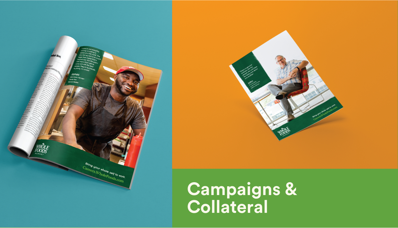 Whole Foods Market Employment And Recruitment Marketing Campaign Printed Magazines And Flyers
