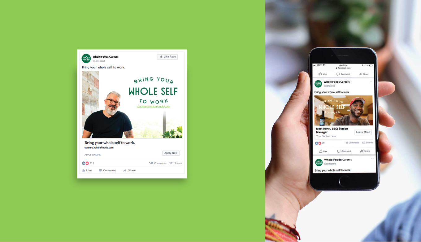 Creative Employment Marketing Social and Digital Campaigns For Whole Foods Market